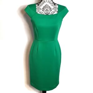 Calvin Klein Green Fitted Dress Size 4